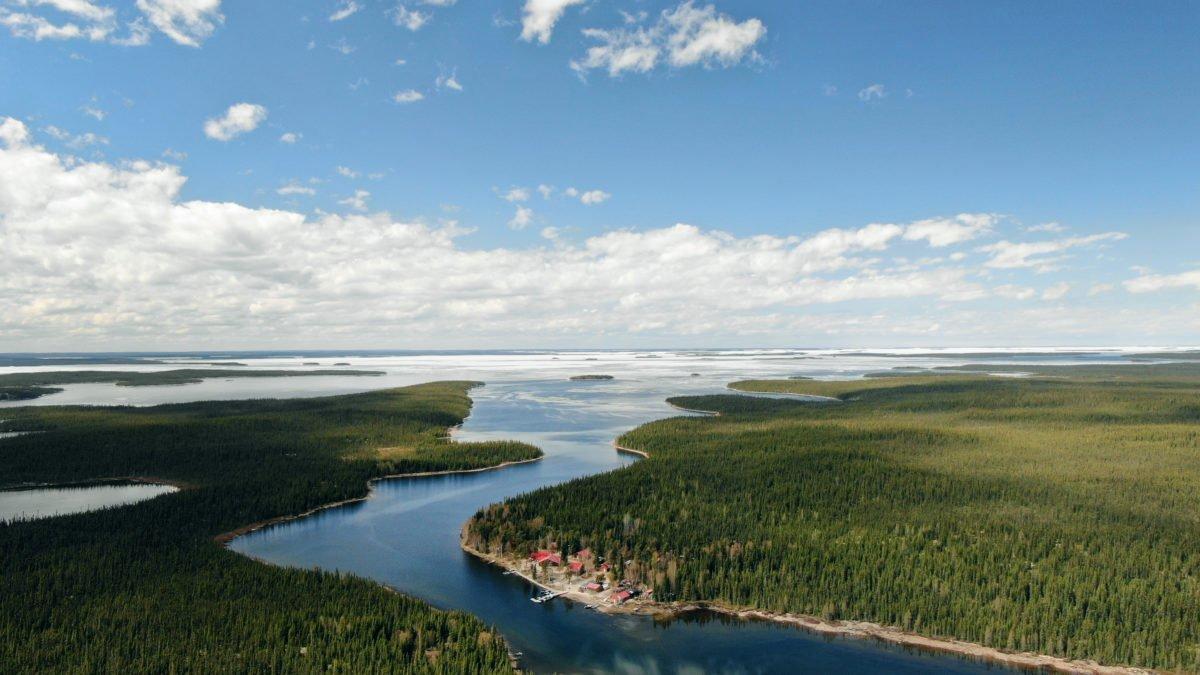 Aerial photo of Reindeer Lake